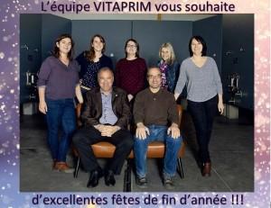 L'équipe VITAPRIM 2018